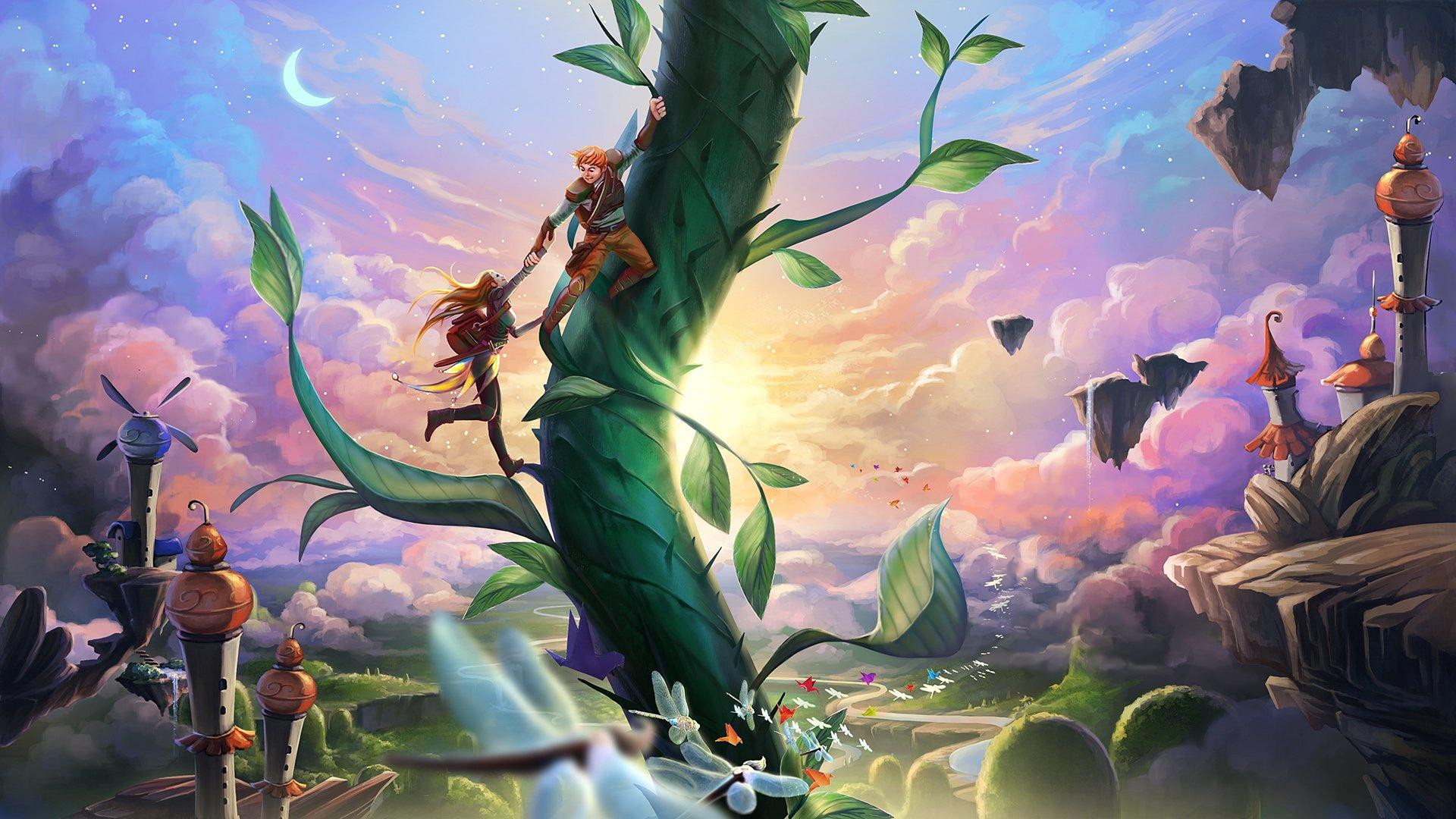 jack and the beanstalk slot background