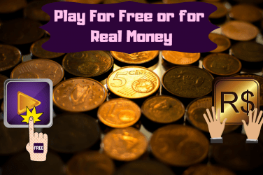 Play For Free or for Real Money background